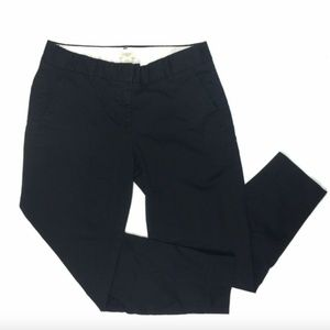 J. Crew Stretch 0 City Fit Pants Black Ankle Work